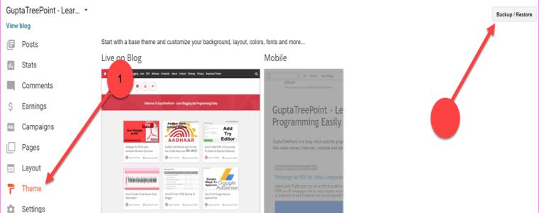 Blogger blog Theme upload