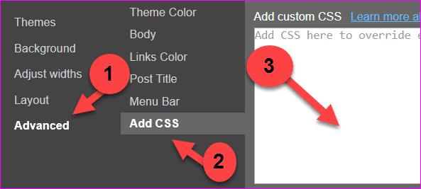 adding CSS code