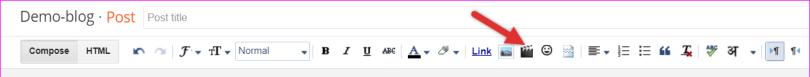 Video Icon In Blogger Post Editor