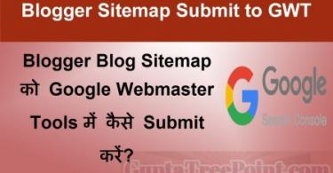 Blogger Sitemap Google search console