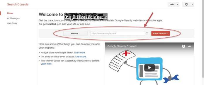 Search Console Homepage