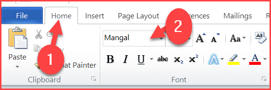 Select Font Style in Microsoft Word