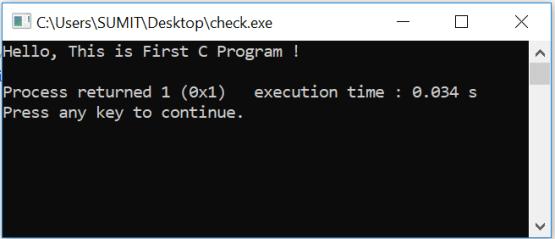 Output First Program