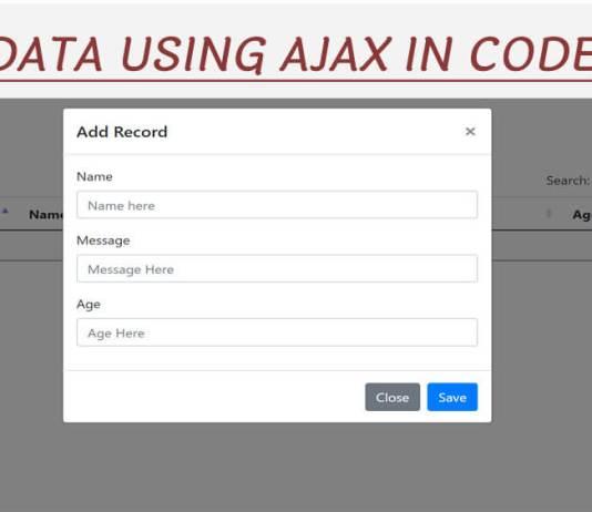 Insert data using ajax in codeigniter