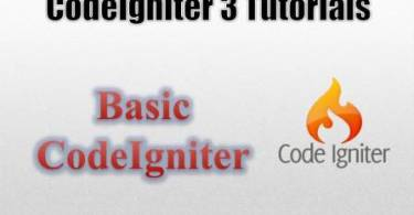 Codeigniter 3 Tutorial
