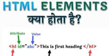 what is html elements