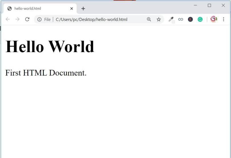 HTML Result