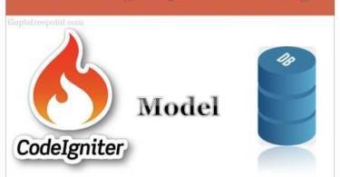 CodeIgniter 3 में model कैसे create करें