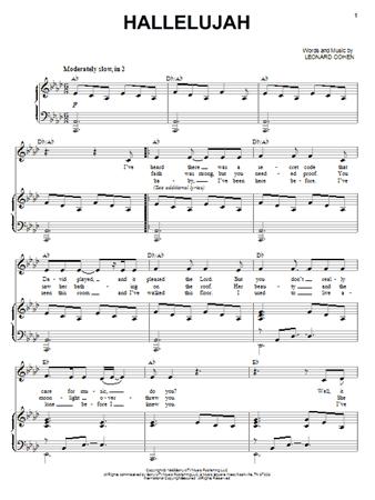 partitura aleluya