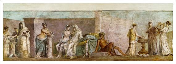 Bodas aldobrandinas. Fresco de Pompeya