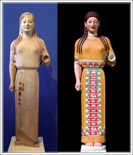 Koré del peplo de Atenas (540 a. C)