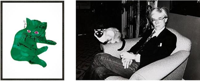 Litografía de su gato Sam