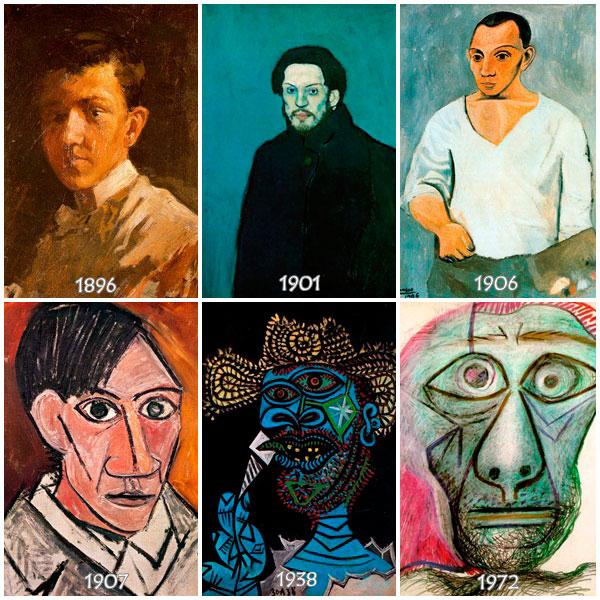 Autorretratos-de-Picasso