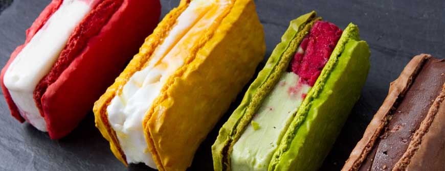 Designer ice cream sandwiches