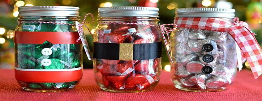 Mason Jars for packing Gifts