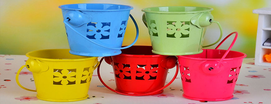 Mini Buckets for packing gifts