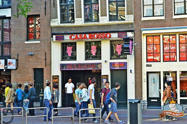 Amsterdam'da amsterdam red light district