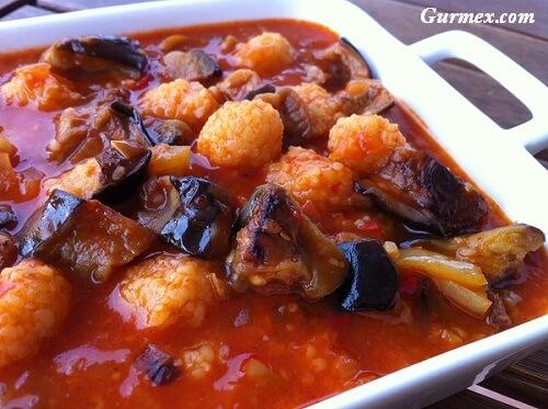 Malatya yemekleri, patlıcan köfte yöresel malatya ev yemekleri