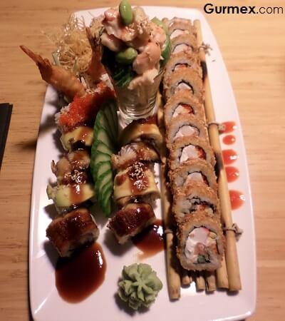 Kaison Sushi,Antalya en iyi suşi house roll ile Ebitan maki ve Volkan roll