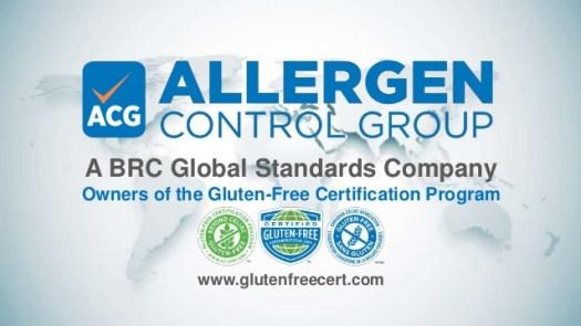 Allergen Control Group Gluten Free Certification Program