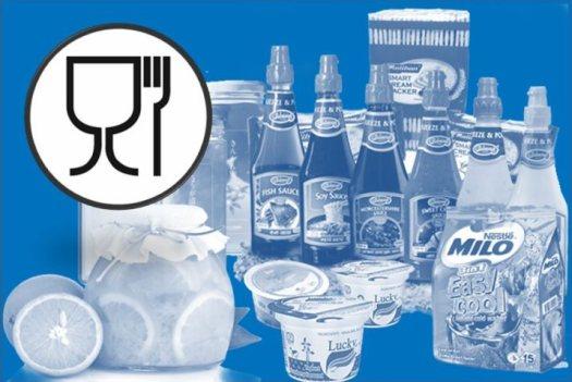 Gıda ile temas eden madde ve malzemeler bardak-catal kadeh-catal sembolü. Food safe symbol