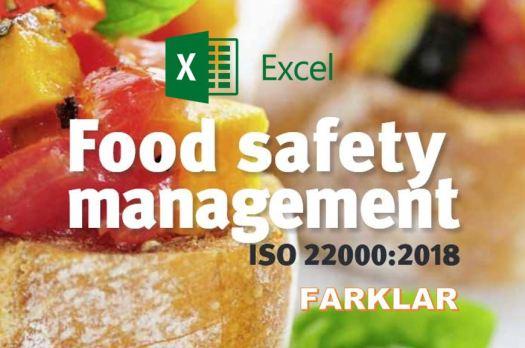 ISO 22000 2018 ile 2005 arasındaki farklar degisiklikler excel xls