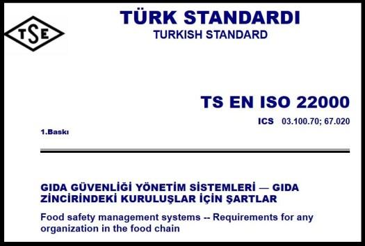 ISO 22000 2018 Turkce Gıda Güvenliği PDF