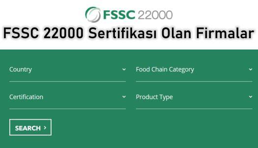 FSSC 22000 Belgeli Firmalar