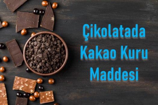 Kakao kuru maddesi