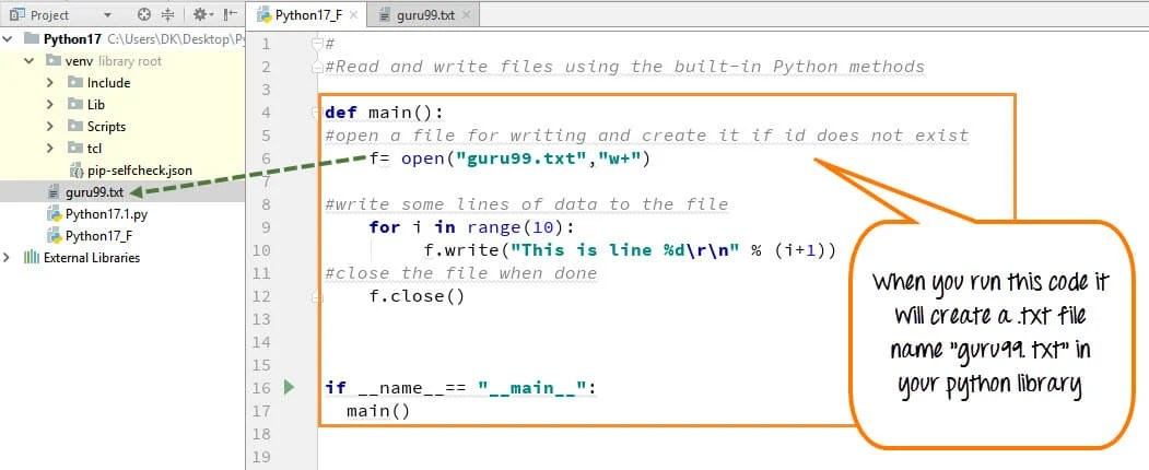 python file handling create