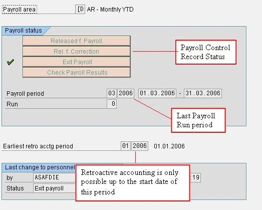 SAP PU03 Payroll Control Record Tutorial