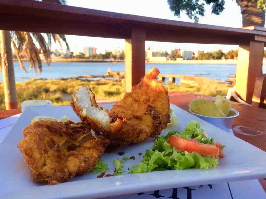 Sunset dinner in Montevideo