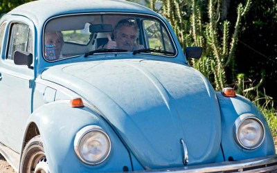 Uruguay president gives hitch-hiker a ride