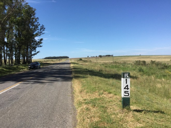 Driving on Uruguayan country roads