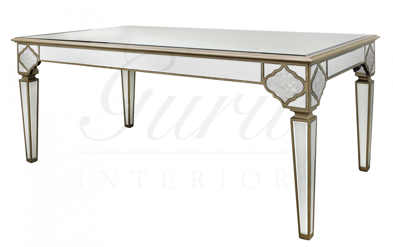 moroccan sofa base corner with movable chaise mirrored dining table