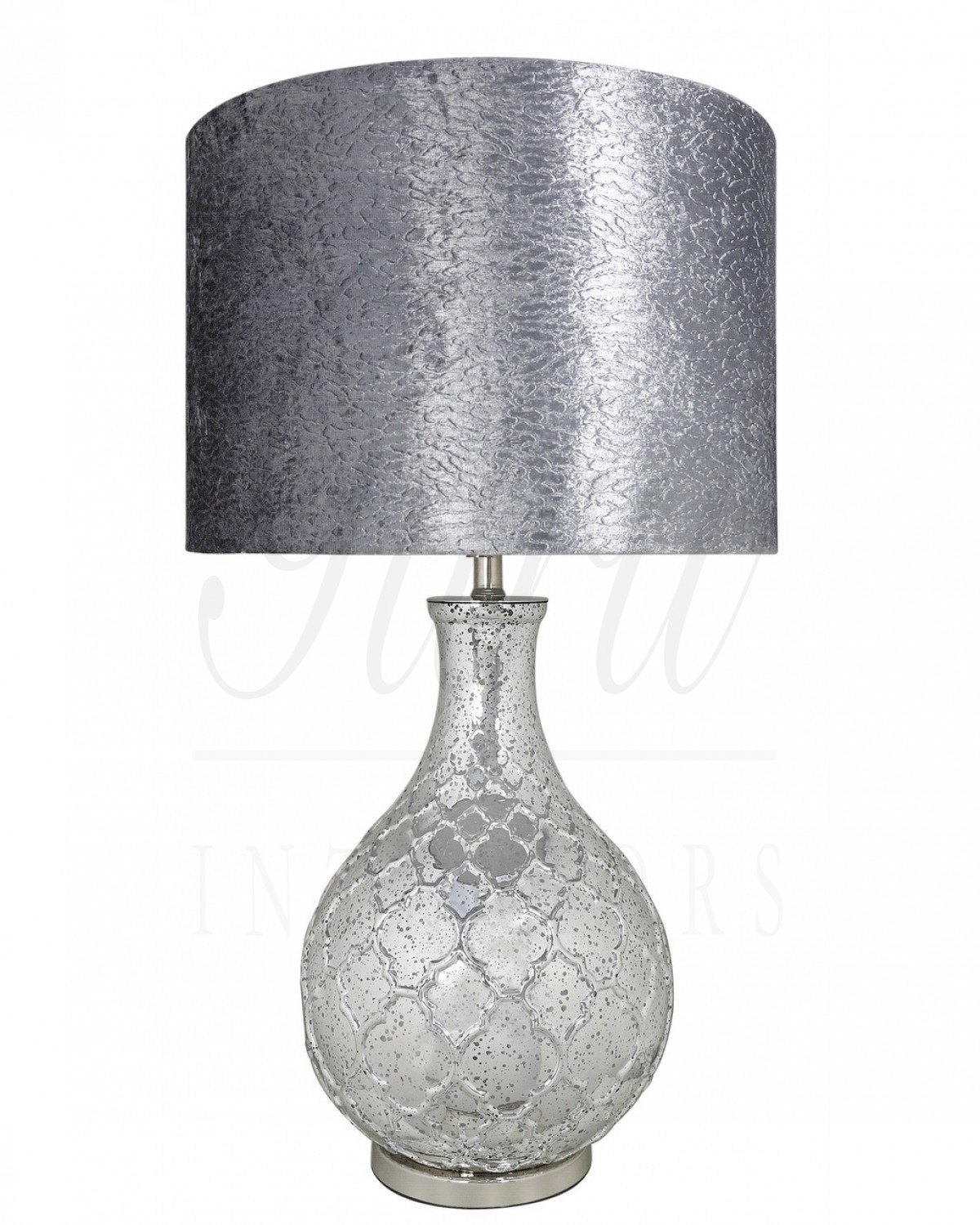 Silver Mercury Round Table Lamp
