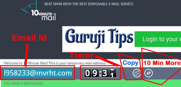 Temporary-Email-Id – Guruji Tips