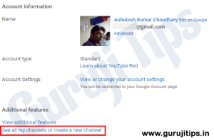 Create New Youtube Chsnnel