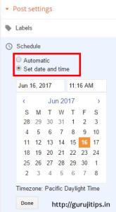 wp post schedule