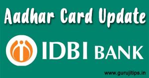 Aadhar card link idbi