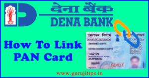 link pan card to dena bank