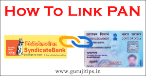 link pan with syndicate bank