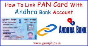 pan link with andhra bank
