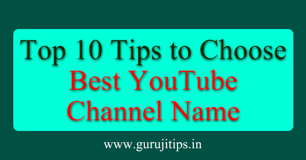 choose youtube channel name