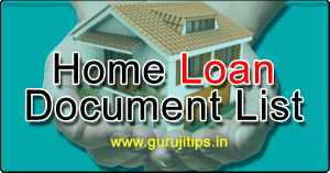 home loan document list