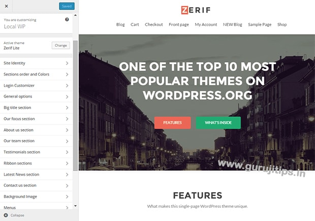 zerif lite single page wp theme