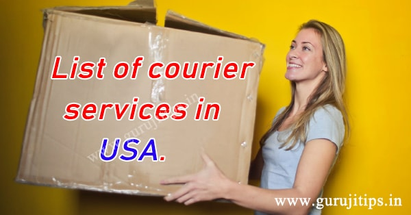 courier service in usa