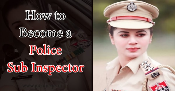 how to become police sub inspector