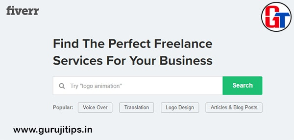 fiverr freelancing site