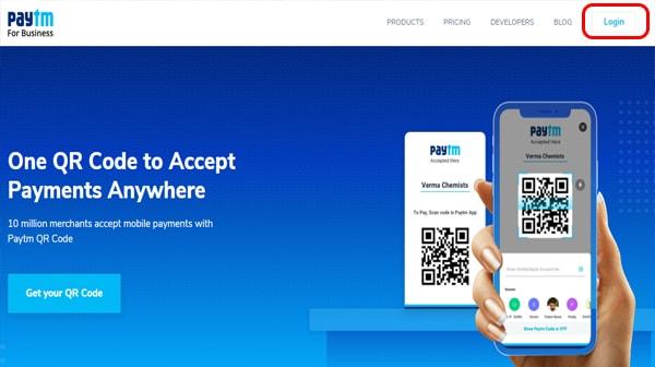 paytm merchant login